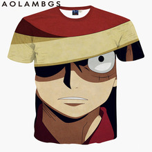 3D T Shirt Men 2016 Fashion One Piece Print T-Shirt Dragon Ball Cartoon Anime TShirt For Men Hip Hop Harajuku Tee shirts Homme