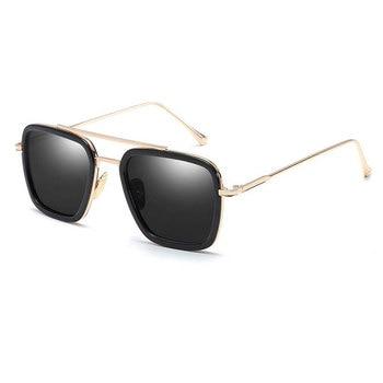 Gafas de sol Tony Stark estilo de lujo UV400 productos de tendencia 2019 Glassse para hombres gafas Vintage
