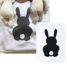 Infant Baby Blanket Rabbit Newborn Swaddle Soft Cotton Swaddling Wrap Winter Autumn Baby Bedding