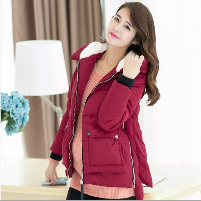 New Winter Maternity Coat Casual  Maternity Warm Clothing down Jacket  For Pregnant Women outerwear overcoat cotton down filler