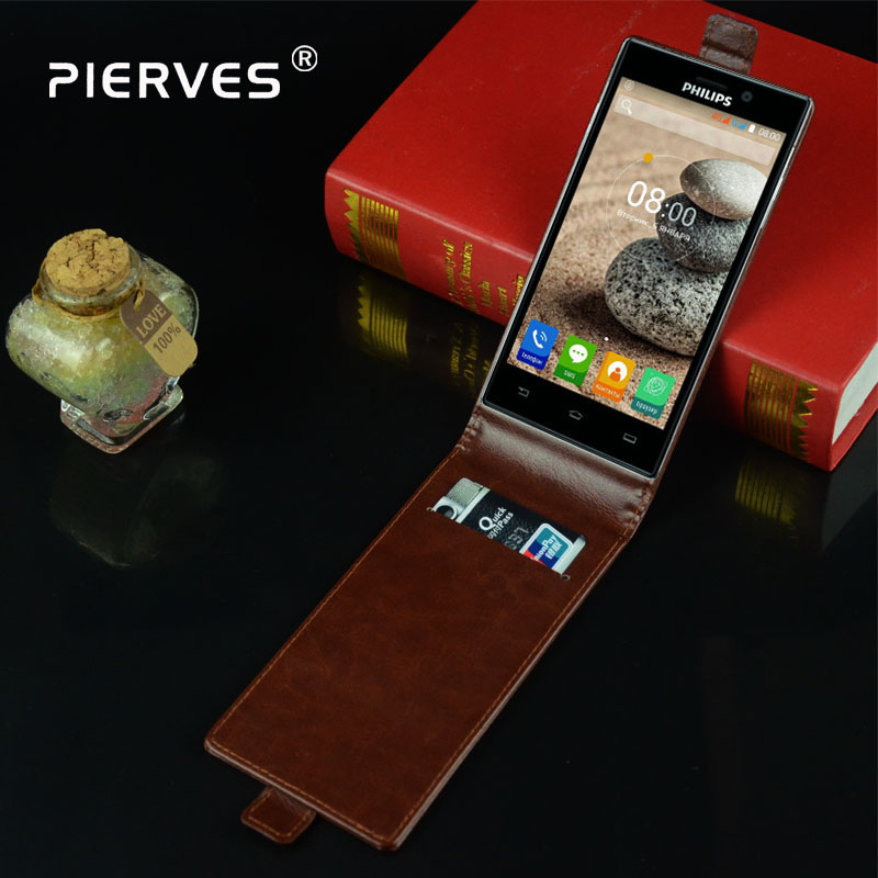 Pierves Fashion Magnetic PU Leather Card Flip <font><b>Case</b></font> Cover <font><b>For</b></font> <font><b>Philips</b></font> <font><b>V787</b></font>+ <font><b>V787</b></font> Plus image
