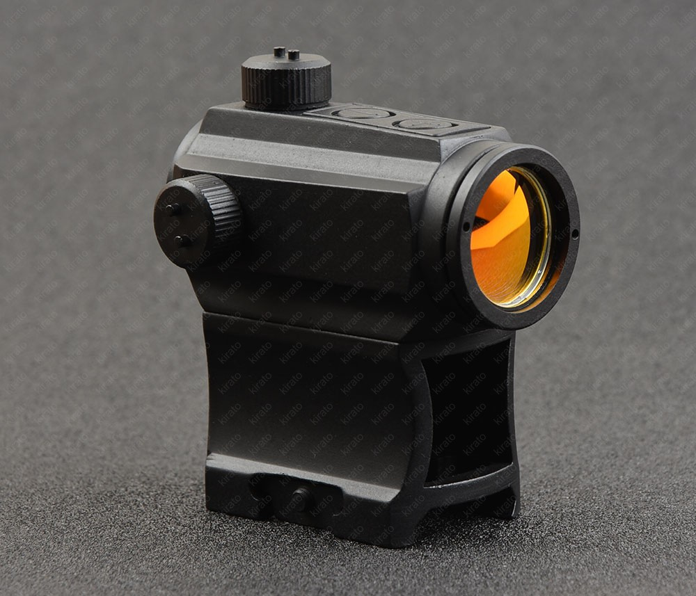 Tactical micro 1x red dot sight scope with 20mm picatinny rail heighten mount base shockproof waterproof M1997