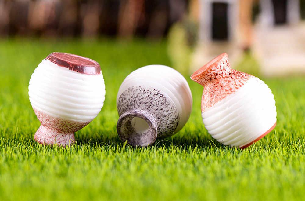 Florero de boca pequeña miniatura de resina DIY accesorio para manualidades decoración del jardín hogar suministros para manualidades DIY (1 pieza de color al azar) #3 $