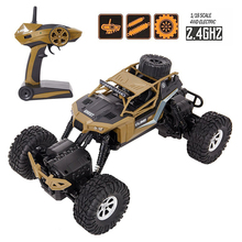 Electric RC Car 1:16 Remote Control Vehicle 2.4Ghz Off-Road Rock Crawler All Terrain Double-turn Waterproof Truck for Kids