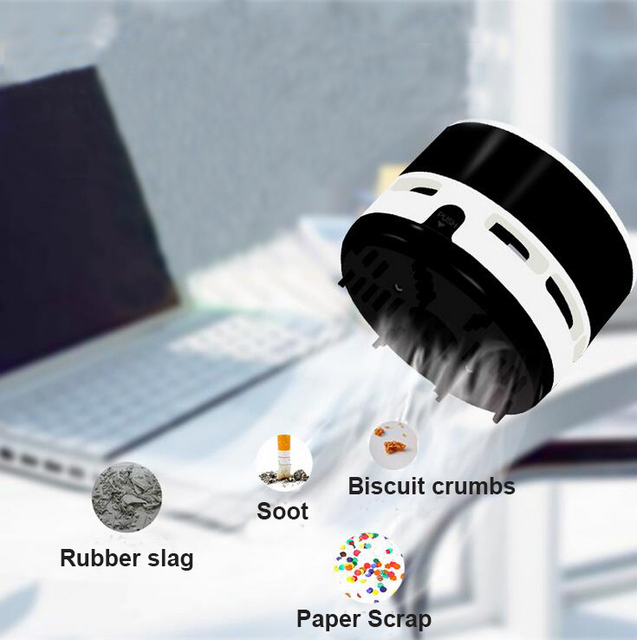 Mini Vacuum Cleaner Desk Dust Keyboard Cleaner Table Cute Sweeper Unique Small Vacuum Hand Held Sweeper For Home Office