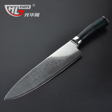 8 inch chef knife 67 layers Japanese Damascus steel kitchen knife with Micarta handle filleting knives free shipping
