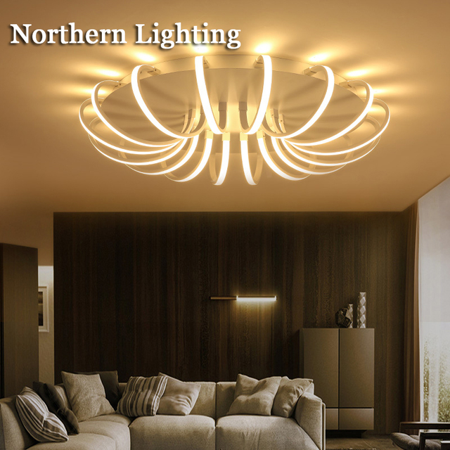 Telecomando dimmerabile moderno lampadario a bracci del soffitto per soggiorno camera da letto ...