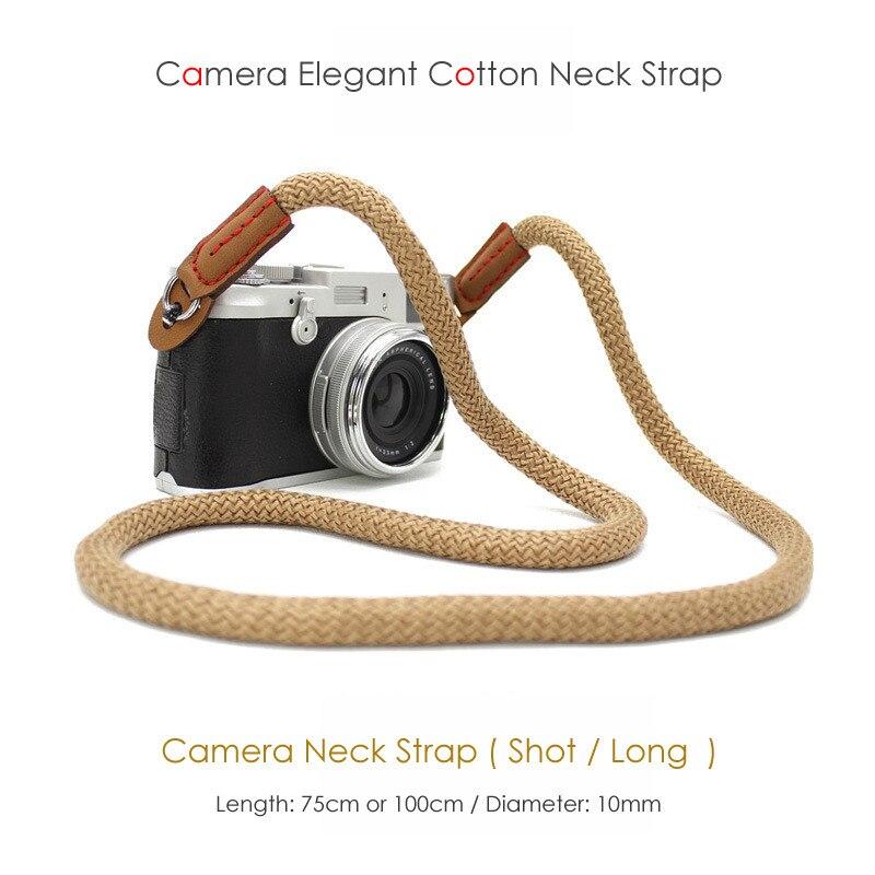 Color : Pink Camera Belt Accessory Hand-Woven Nylon Mountaineering Rope Camera Shoulder Neck Strap 85cm to 185cm Belt for DSLR Digital Camera Durable