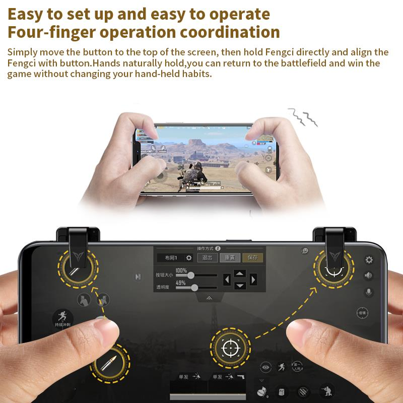 Flydigi Phone Game Trigger Compatible with WASP Controller Mobile Game Controller PUBG CODM Gamepad for Android and iOS(China)