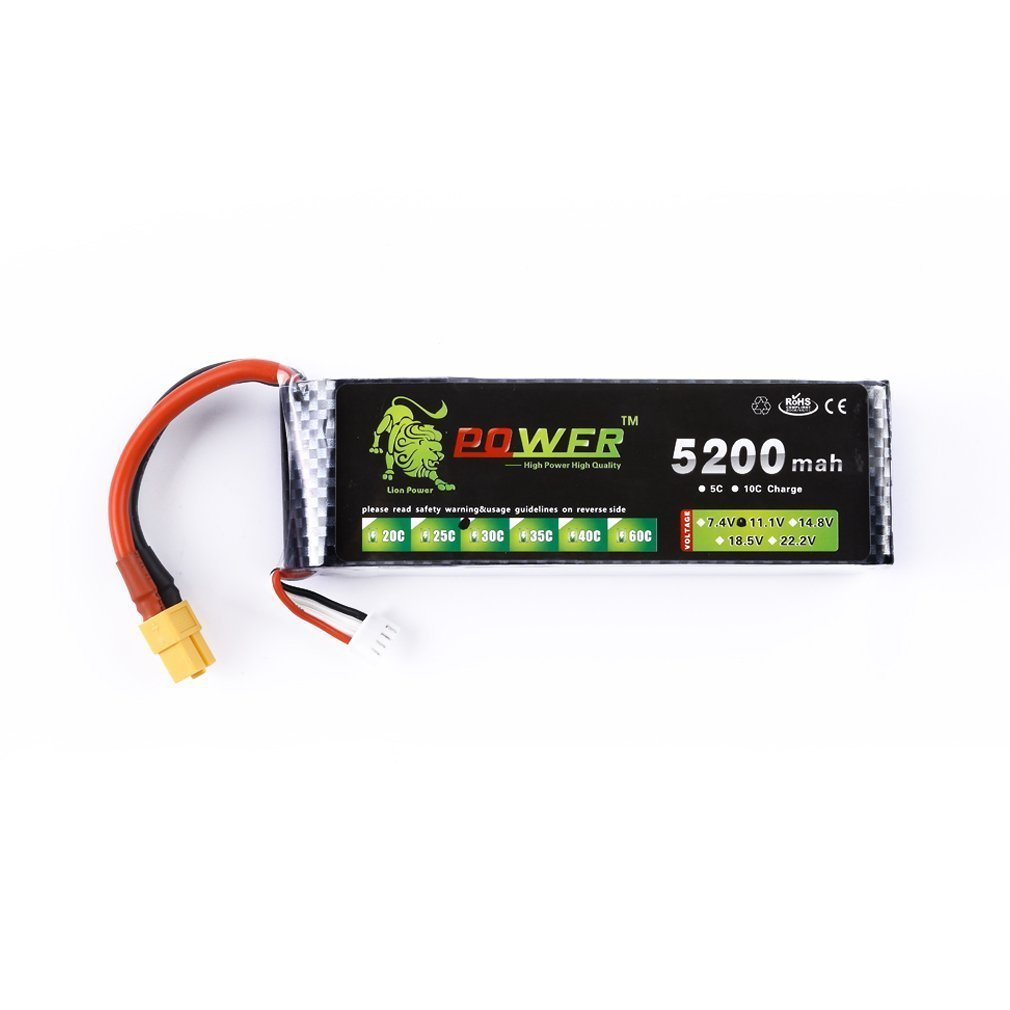 11.1 v 5200 mah 3 s 30C Lipo Li-po Lipoly Batterie pour RC Trex 450 Hélicoptère