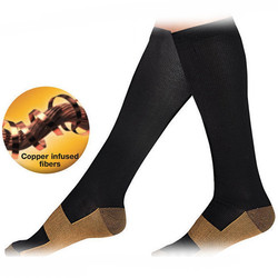 Miracle copper anti fatigue compression socks soothe tired achy unisex knee high stocking foot pain compression.jpg 250x250
