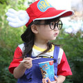 2016Summer Gridding Lovely Arale Angel Hat Wing Baseball Hat Children and Parenting Allah Bud Hats Net Cap Angel Wing Hat