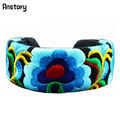 Fashion Jewelry Handmade Woven Traditional Rose Flower Cuff Bracelet Bangle TB144