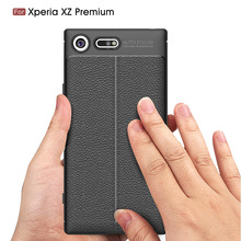 for Sony Xperia XZ Premium Case Cover Silicon Case For Sony XZ Premium Fundas Soft Carbon Fiber Brushe Coque Etui Capa Aksesuar