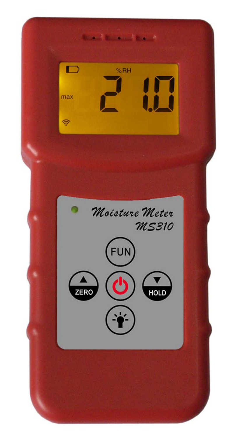 Inductive moisture meter MS310 FOR woodwork,paper making,flakeboard,furniture,building,timber traders concrete wood.. fiber materials wooden articles tobacco cotton paper building soil and other fibre materials digital wood moisture meter mc7806