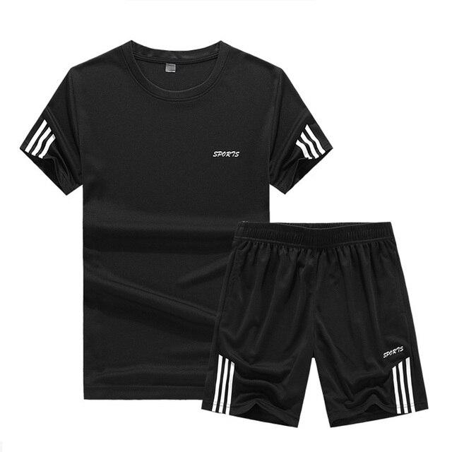 99042fd814e 2019 Sportsuits Men Suits Summer 2PC Breathable Short Set Men s Design  Fashion T-shirt Shorts Tracksuit Set Trending Style