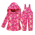 2016 Winter Baby Down Coat Clothes Suits Children Thick Jacke Girls Overalls Pants Kids Coat+pants V-0473