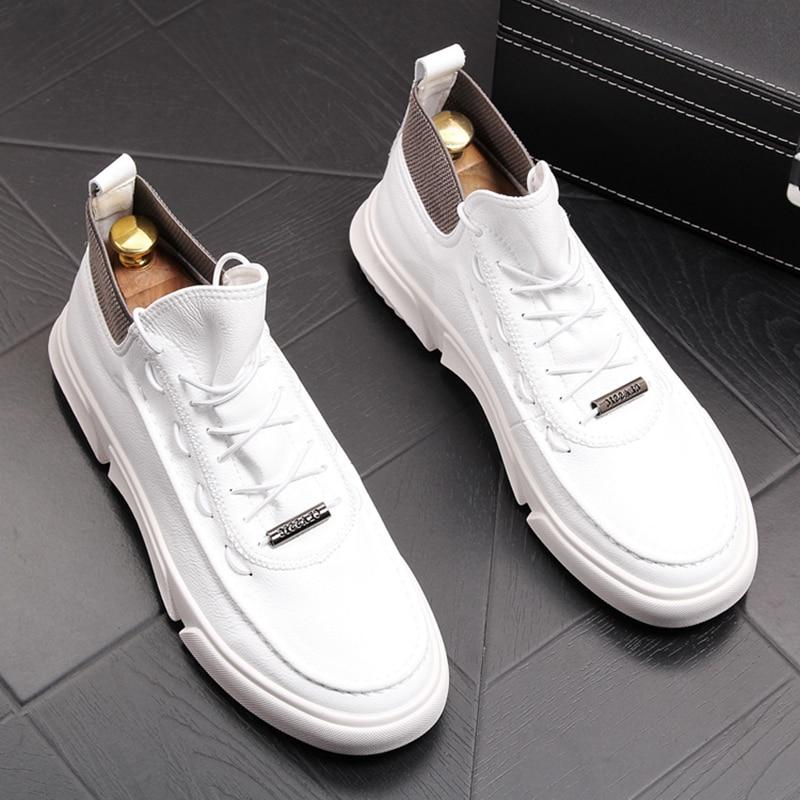 Stephoes luksusowej marki mężczyzn mody buty casual wiosna jesień wysokiej góry wypoczynek wygodne adidasy męskie oddychające buty Trend na  Grupa 1