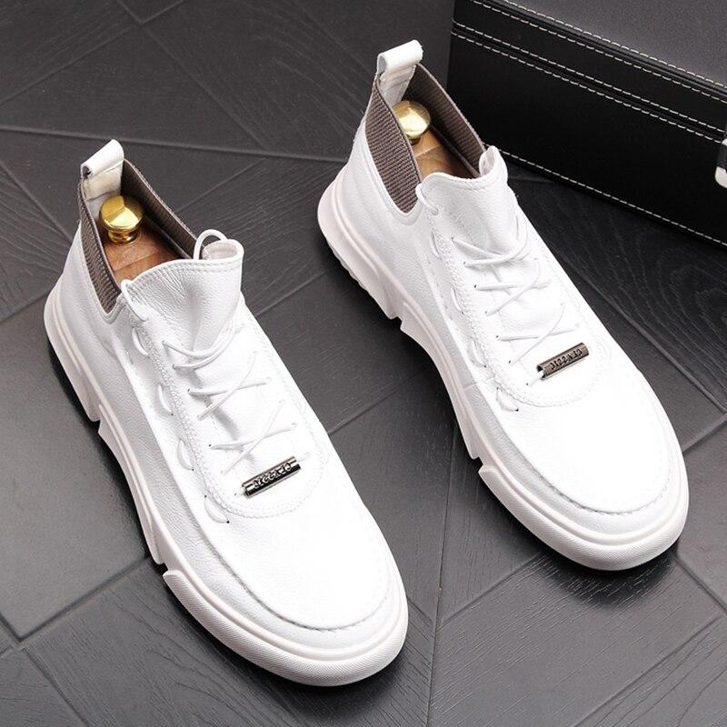 Stephoes 럭셔리 브랜드 남성 패션 캐주얼 부츠 봄 가을 높은 상위 레저 편안한 스니커즈 남성 통기성 트렌드 신발의  그룹 1
