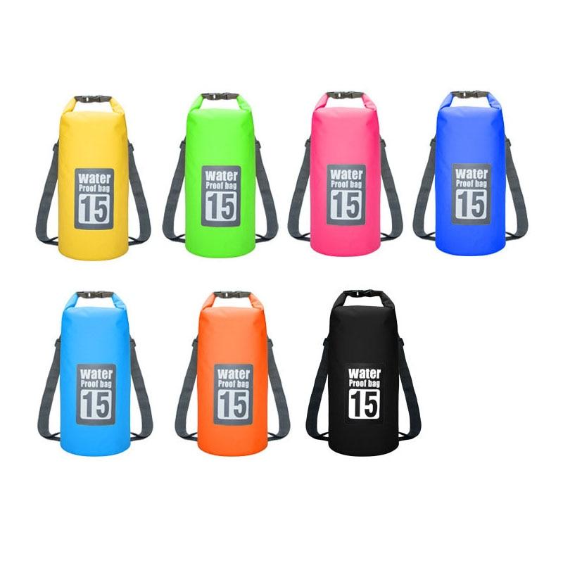 Waterproof Swimming Backpack Bag 5L 10L 15L 20L Portable Ultralight Waterproof Floating Bag Outdoor Camping Storage Dry Sack Bag 6