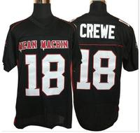 Mean Machin 18 Crewe Mean Machine Convicts Football Jersey All Stitched Jerseys Men Black Free Shipping