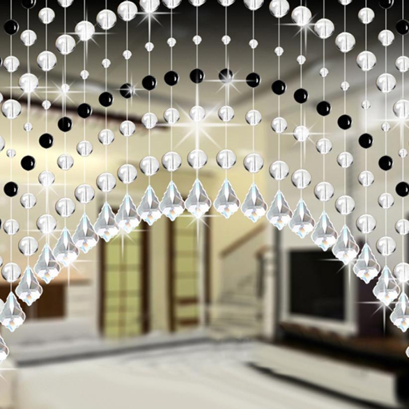 1M Crystal Glass Bead Curtain Rose Bead Curtain Luxury Living Room Bedroom Window Door Crystal Curtains Wedding Decor 2O0109