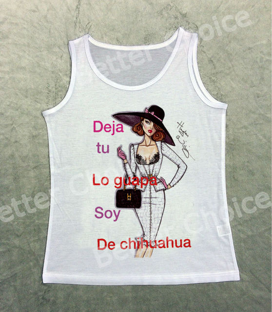 Track Ship+Vintage Fashion Retro Cool Vest Tanks Tank Noble Fashion Lady  Shopping Deja Tu Lo Guapa Soy De Chihuahua 1190 80928a1f3945