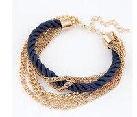 New Fashion Luxury Braided Multilayer Bracelet Alloy Bangle 3Pcs 2