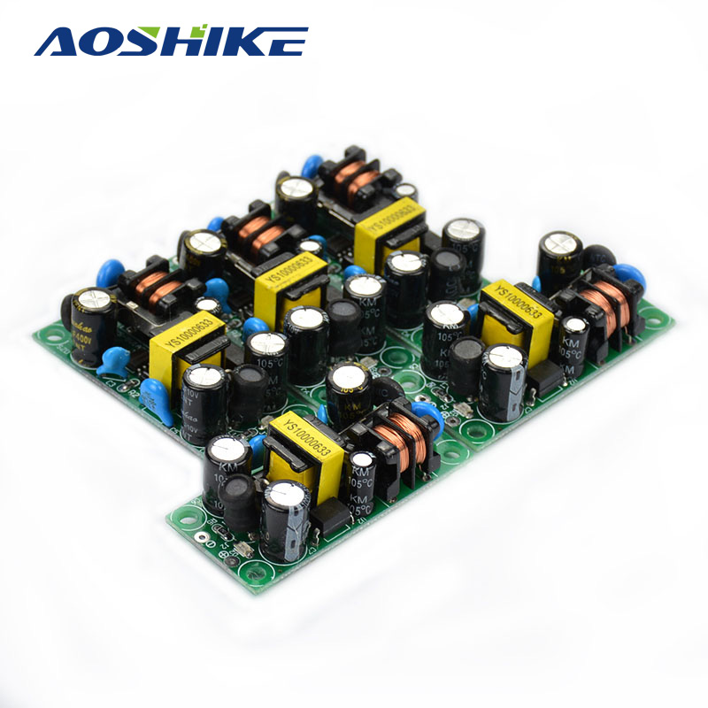 AOSHIKE 5pcs 110/220V 90~240V 5W 1A AC To 5V DC Converter Module Adapter LED Power Switching For DIY