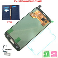FIX2SAILING 100 Tested Working LCD Display Touch Screen Assembly For Samsung Galaxy S5 I9600 G900F With