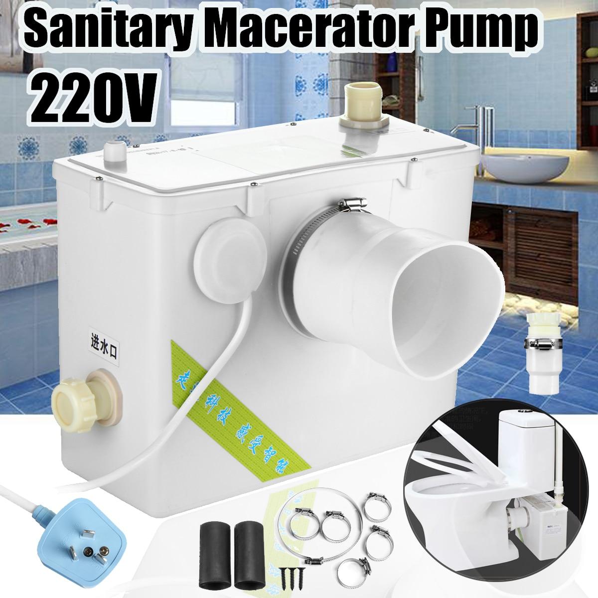 2 Estilo 400 W Macerator Bomba Automática Eliminação Sanitária Banho de Esmagamento de Resíduos de Água Pia Banheiro