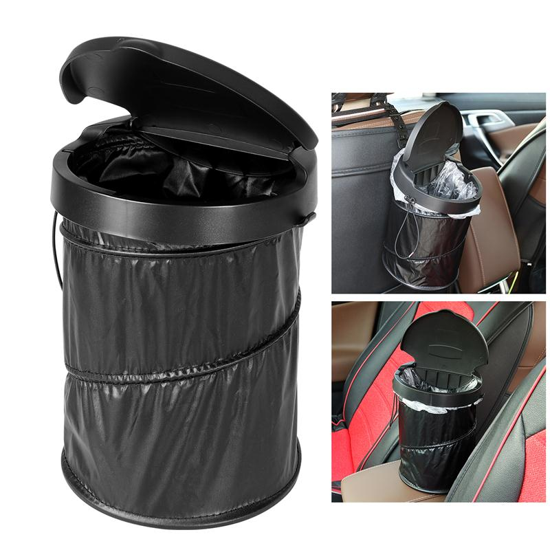 vorcool portable car trash can waterproof collapsible pop up trash bin garbage container with. Black Bedroom Furniture Sets. Home Design Ideas