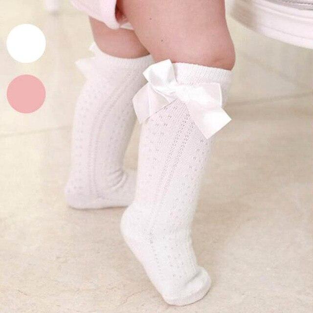Invierno Calcetín de Algodón Del bebé del Bowknot Tejer calcetines ...