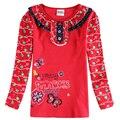 Цветок девушка одежда дети девушки футболка с длинным рукавом осень Детей футболки Novatx марка детские футболки для девочек одежда