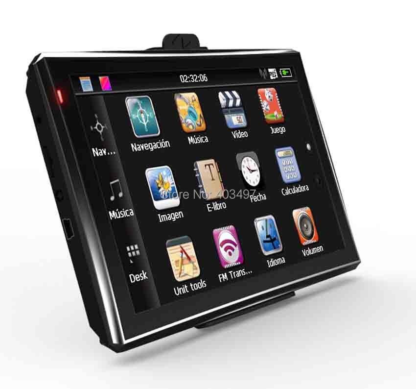 5 дюймов автомобиля GPS навигатор без Bluetooth и AV в 4 ГБ нагрузки 3D Географические карты ram128m