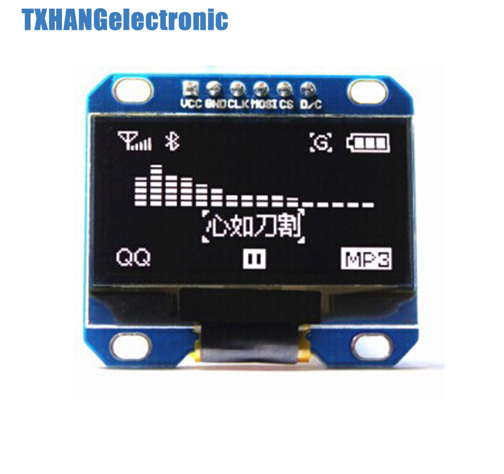 WHITE 1.3 SPI Serial 128X64 OLED LCD LED Display ModuleWHITE 1.3 SPI Serial 128X64 OLED LCD LED Display Module