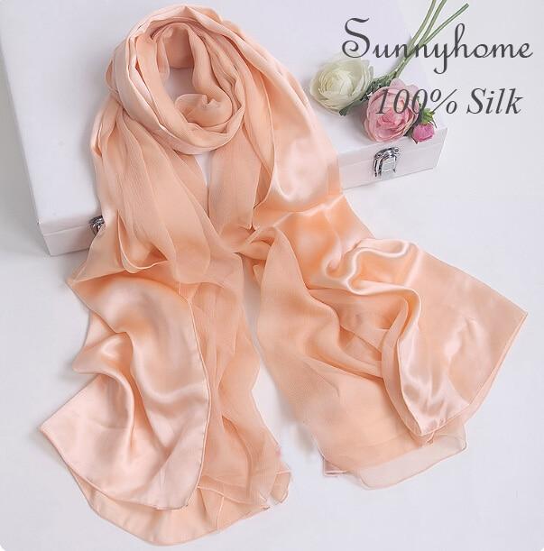 Značkové značkové hedvábné zlato šátek ženy jaro léto nahá růžová 100% saténová hedvábí pashmina a šátek holý hijab patchwork šátky