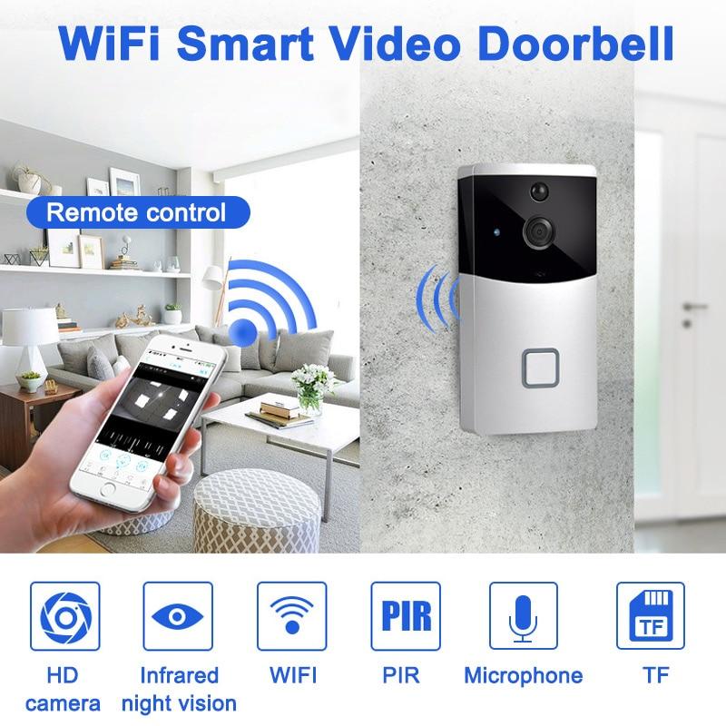 Smart Intercom WI-FI Video Phone Door Bell Camera PIR IR Alarm for Apartments LCC77Smart Intercom WI-FI Video Phone Door Bell Camera PIR IR Alarm for Apartments LCC77