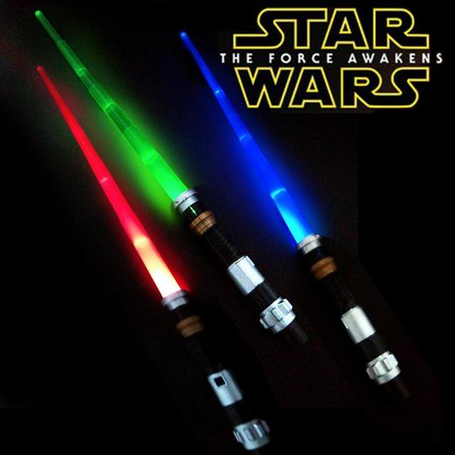 87cm Star Wars 7 The Force Awakens Kylo Ren LED lightsaber Scalable Cosplay Darth Vader action figure toys doll