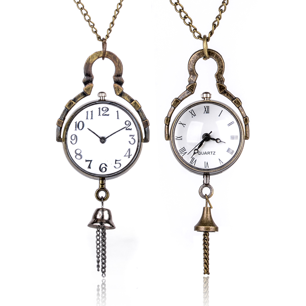 Antique Bronze Glass Ball Bull Eye Quartz Pocket Watch With Necklace Steampunk Men Women Roman/Arabic Numbers Pendant Fob Gift tactical 3 5 14x44 rifle scope front retical scope for hunting shooting cl1 0226