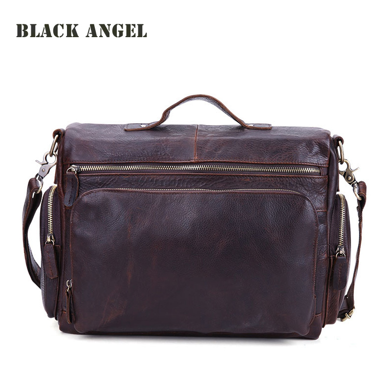 c5ad9b971e72 Vintage genuine leather men bags cowhide leather handbag briefcases men  messenger bag business shoulder bag melodycollection