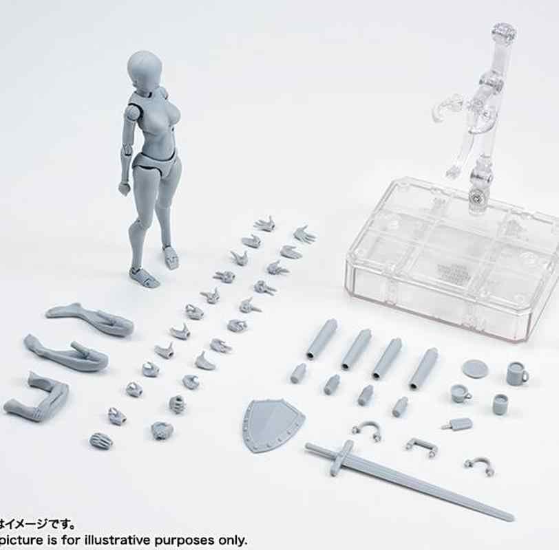 Nouveau multi-joint figurines mobiles corps KUN/corps CHAN gris/noir couleur Ver PVC figurine à collectionner modèle jouet dessin
