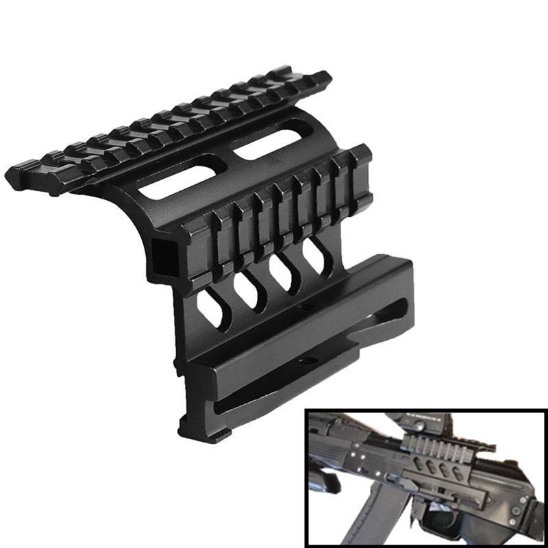 Tactical <font><b>AK47</b></font> AK74 SAIGA AK Serie Side <font><b>Mount</b></font> Rail Quick QD 20mm Detach Double Picatinny Weaver Hunting Airsoft Bracket RL2-0041 image