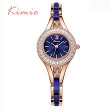 KIMIO Luxurious Crystal Diamond Women Watches Classic Waterproof Quartz-Watch For Women Wholesale Bracelet relogios femininos 2016