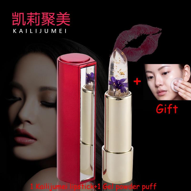 Batom lábios batom hidratante brilhante maquiagem Kailijumei Lip Stick : Temperature Change