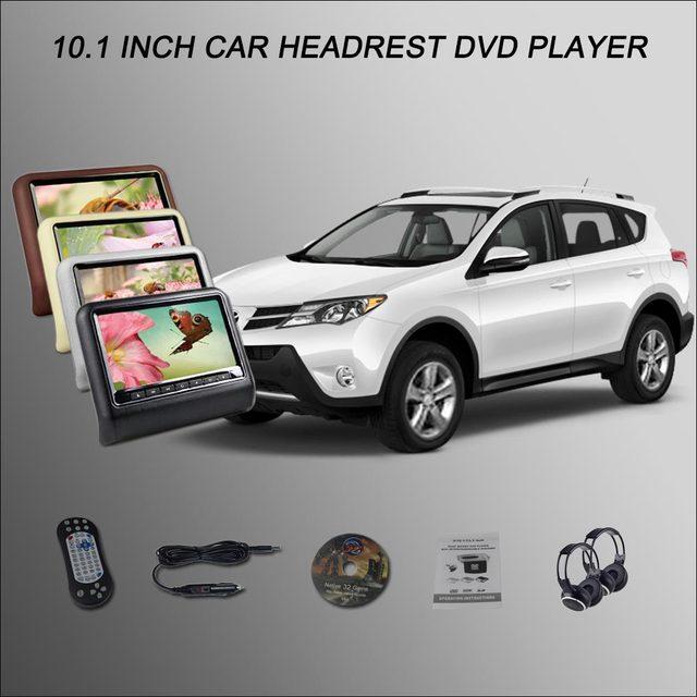 """Monitor de Encosto de Cabeça do carro/2*10.1 """"ScreenSupport Digital USB SD DVD Player Jogos de Controle Remoto Para TOYOTA RAV4 4 Cores Opcionais"""