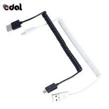 Мини 3ft 1 м весна в спираль Мужской USB 2.0 Micro 5 Булавки USB синхронизации данных Зарядное устройство кабель