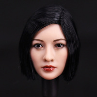 1/6 Scale Asian Female Head Sculpt Short Black Hair Headplay Model For  12
