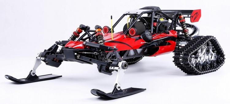 Rovan baja 5b version de dérapage sur chenilles avec 30.5cc 2 temps moteur à essence Walbro 997 carburateur NGK bougie d'allumage