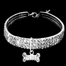 Bling Rhinestone Dog Collars Pet Crystal Diamond Pet Collar Size S/M/L Collars Leashes Necklace Dog Accessories Pet Supplies